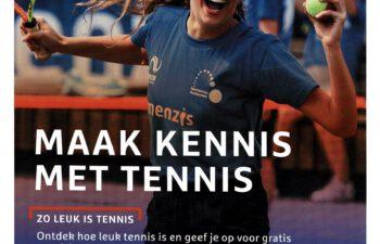 Maak kennis met tennis voorzijde folder